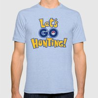 Let's Go Hunting! Mens Fitted Tee Tri-Blue SMALL