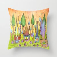 Dream Garden 1 Throw Pillow