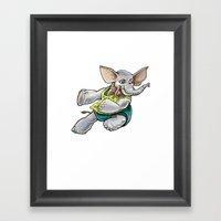 Elephant Jump Framed Art Print