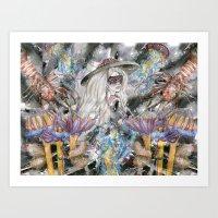 Poseidon's Inter-Dimensi… Art Print