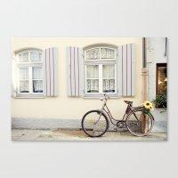 Retro bike Canvas Print