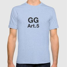 GG Art. 5 Mens Fitted Tee Tri-Blue SMALL