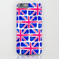 iPhone & iPod Case featuring Watercolour Union Jack  by Bottle of Jo