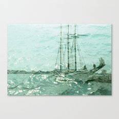 so we beat on, boats against the current... Canvas Print