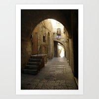 Jerusalem Archways Art Print