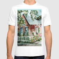 German Village House in Columbus, Ohio Mens Fitted Tee White SMALL