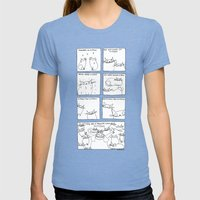 my favourite things Womens Fitted Tee Tri-Blue SMALL