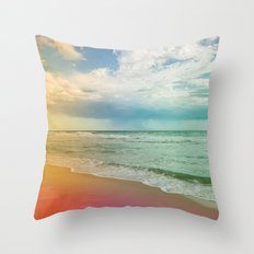 Beach in Colours Throw Pillow