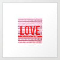 Love Be My Valentine Square Design Art Print