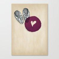 Zebra shoes Canvas Print