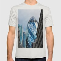 The Gherkin London Mens Fitted Tee Silver SMALL