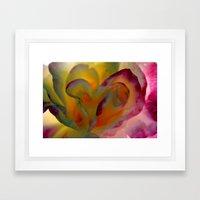 Rose Abstract Framed Art Print
