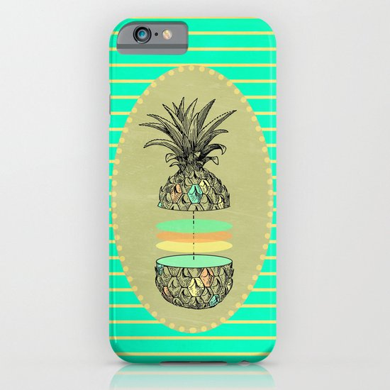 Sliced pineapple iPhone & iPod Case