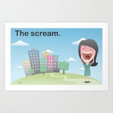 The scream. Art Print