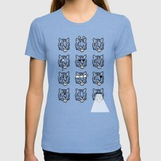 Eyes Of The Tiger Womens Fitted Tee Tri-Blue SMALL