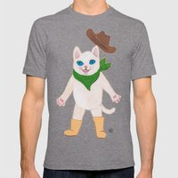 Woah! Kitty Mens Fitted Tee Tri-Grey SMALL