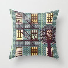 The Fly (night) Throw Pillow