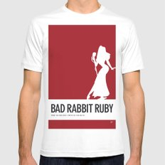 No14 My Minimal Color Code poster Rabbit White SMALL Mens Fitted Tee