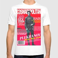 COSMARXPOLITAN, Issue 15 Mens Fitted Tee White SMALL