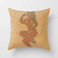 Push Pin Up Throw Pillow