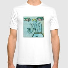 The Unknown Rider Comic Book Panel Mens Fitted Tee White SMALL