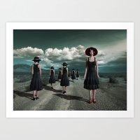 Road Of Girls Art Print
