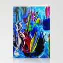Abstract in acrylic  Stationery Cards