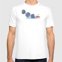 3 Circles Mens Fitted Tee White SMALL