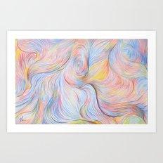 Wind I - Colored Pencil Art Print