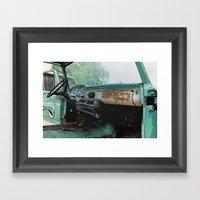 Old Ford Truck - Inside … Framed Art Print