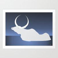 The Moon Landed Softly O… Art Print