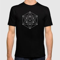 Sacred geometry / Minimal Hipster Symbol Art Mens Fitted Tee Black SMALL