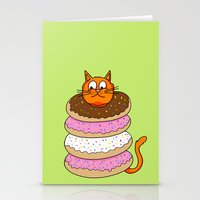 More Cats & Donuts Stationery Cards