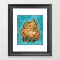 POOP. Framed Art Print