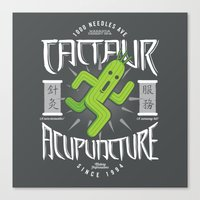 Cactaur Acupuncture Canvas Print