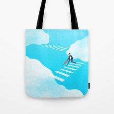 Walking on the sky Tote Bag