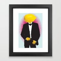 Lemonhead Framed Art Print