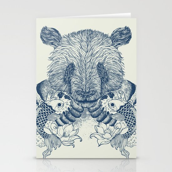 Panda Tattoo Stationery Card
