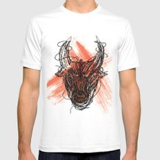 The Beast White Mens Fitted Tee SMALL