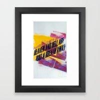 HEAVEN AND HELL 5 Framed Art Print