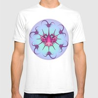 Bugs On Circles Mens Fitted Tee White SMALL
