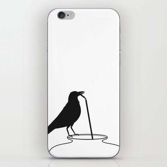 Thirsty crow iPhone & iPod Skin
