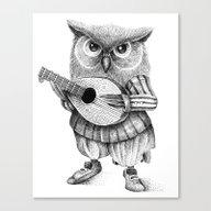 MISTER OWL Canvas Print