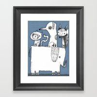 ELEPHANT RIDE Framed Art Print