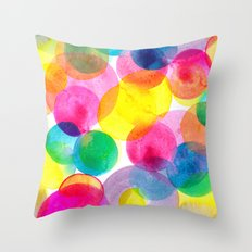 Confetti paint TWO Throw Pillow