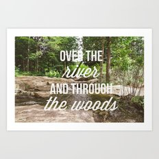 over the river Art Print