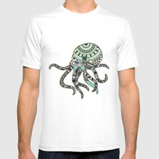 Octopus White SMALL Mens Fitted Tee