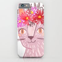 Cat with Floral Crown iPhone 6 Slim Case