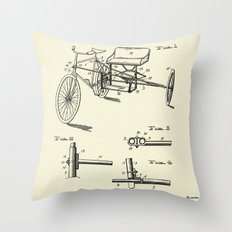 Seat Supporting Bicycle Extension Frame-1903 Throw Pillow