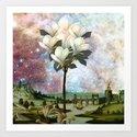 The Magnolia Tree Art Print